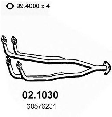 Труба приемная выпускная ALFA 33 S.W. 1.3-1.5 - ALFASUD 02.1030