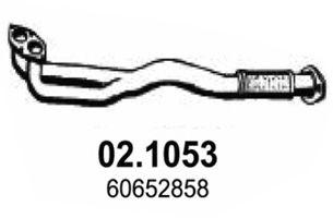 Труба приемная выпускная ALFA 156 1.6i 1.8i 16V TS 11/97 02.1053