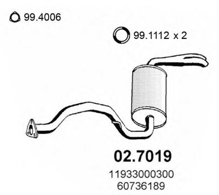 Глушитель задняя часть ALFA 6 2.0-2.5 79 02.7019
