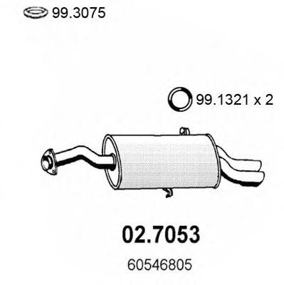 Глушитель задняя часть ALFA 164 3.0 91 02.7053