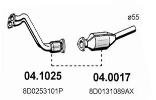 Труба приемная выпускная AUDI A4 1.6 AVANT 1995 04.1025