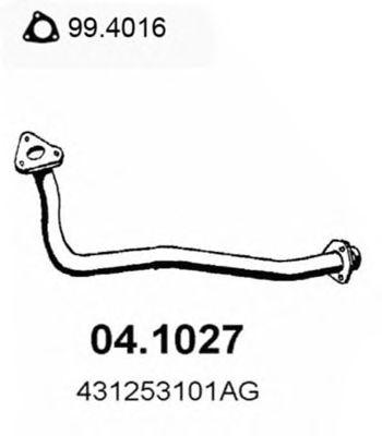 Труба приемная выпускная AUDI 100 D 78-82 04.1027
