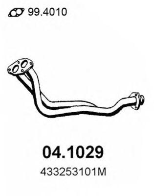 Труба приемная выпускная AUDI 100ie2.2 82-84 04.1029