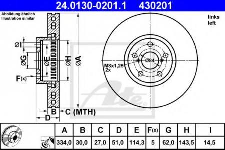 Тормозной диск ATEТормозные диски<br><br>