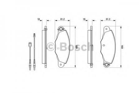 Тормозные колодки дисковые BOSCHТормозные колодки<br><br>