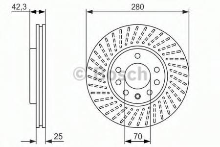 Тормозной диск BOSCHТормозные диски<br><br>