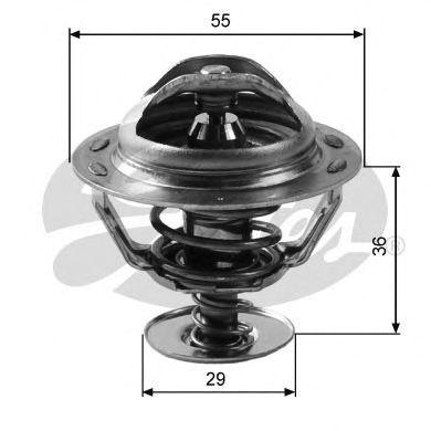 Термостат CITROEN / PEUGEOT (-1)3107 TH12283G2
