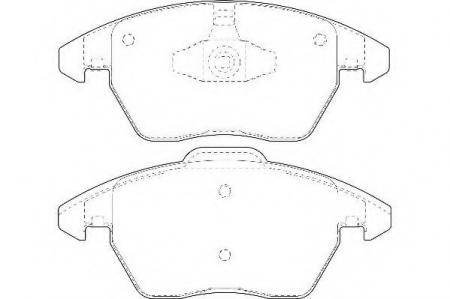 Комплект тормозных колодок, дисковый тормоз, WBP23589A