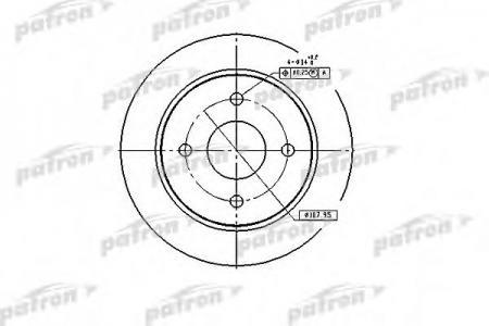 Тормозной диск PatronТормозные диски<br><br>