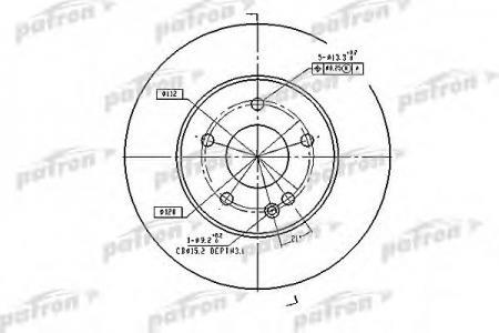 Тормозные диски PatronТормозные диски<br><br>