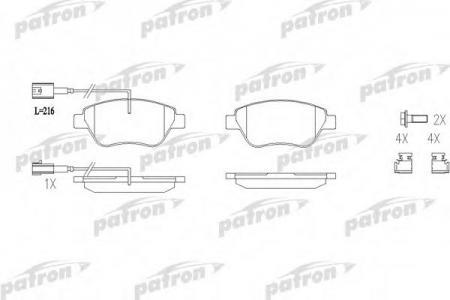 Тормозные колодки дисковые PatronТормозные колодки<br><br>