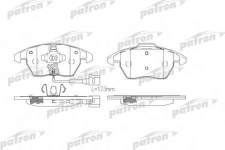 Комплект тормозных колодок, дисковый тормоз, PBP1728