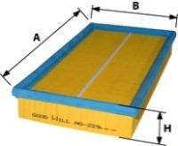 Фильтр воздушный для FORD Ka 1.0i / 1.3i 96- AG229