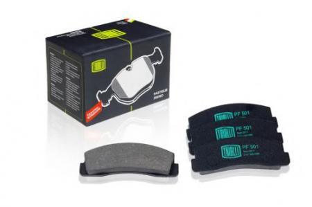 Колодка торм 2121, 21213, 2123 пер дисковые (комплект 4шт) (PF-501) PF-501