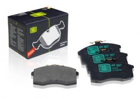 Колодка торм 1111 пер дисковые (комплект 4шт) (PF-967) PF-967