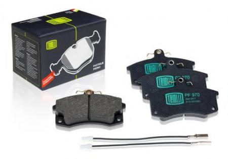 Колодка торм 2110-12 пер дисковые с датчиком (к-т 4шт) (PF-970), PF-970