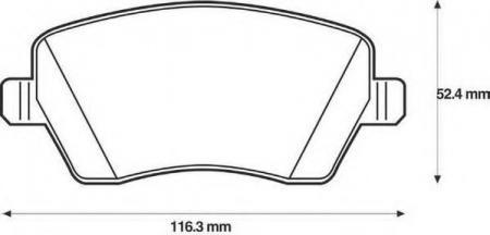 Комплект тормозных колодок, дисковый тормоз, 573125J