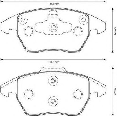 Комплект тормозных колодок, дисковый тормоз, 573134J