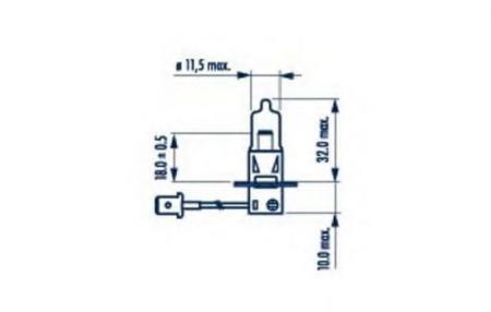Лампы на 24 Вольта для H3 24V- 70W (PK22s) 48700