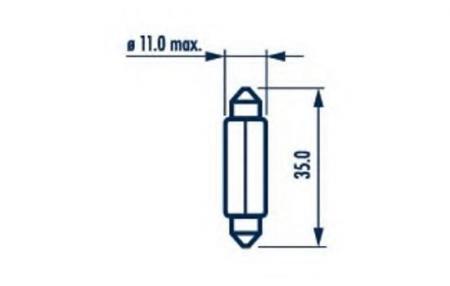 Индикаторные лампы для C5W 12V-10W (SV8, 5-35) 17316