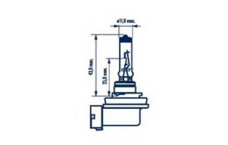 Лампа H11LL 12V 55W PGJ19-2 48078