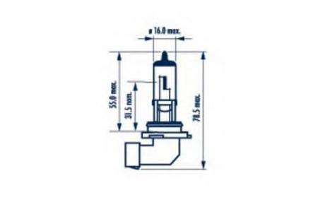 Лампа HB4 12V 51W P22d ( стандартного размера +30%BLUE) 48613