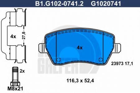Колодки тормозные дисковые B1G10207412