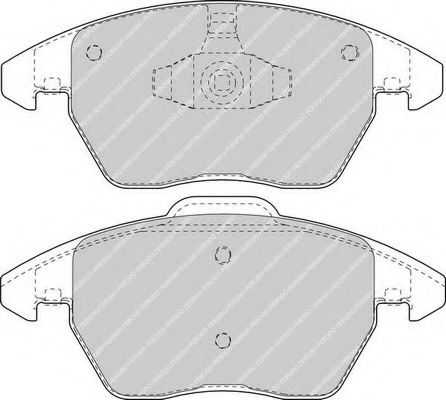 Колодки дисковые п. Citroen C4, Peugeot 307 2.0i / HDi 03 -> FDB1728