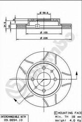 Диск тормозной 2110-2112 Brembo MAX 09.8894.75