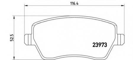 К-т торм. колодок Fr NI Micra/Note, RE Clio III, P68033