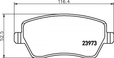 Комплект тормознх колодок, д MDB2595