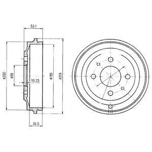 Тормозной барабан, BF389