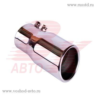 Насадка на глушитель 63х120х63мм хром BOLK BK01401 BK01401