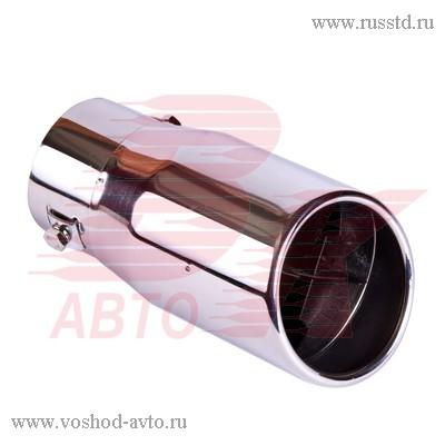 Насадка на глушитель 86х160х63мм хром BOLK BK01406 BK01406