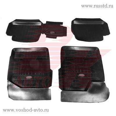 Коврики салона ВАЗ 2190 Гранта резиновые с литой перемычкой АГАТЭК VSK-00150085