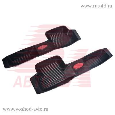 Коврик порога ВАЗ 2110-12 2170 Приора резиновые 2шт АГАТЭК VSK-00279455