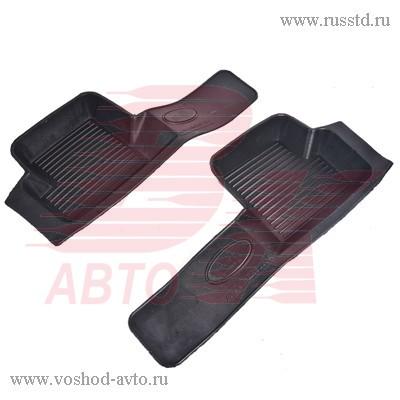 Коврик порога ВАЗ 2108-099 2114-2115 резиновые 2шт АГАТЭК VSK-00279460