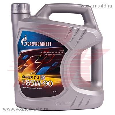 Масло Gazpromneft Super Т-3 85W90 трансмиссионное 4л 2389901364