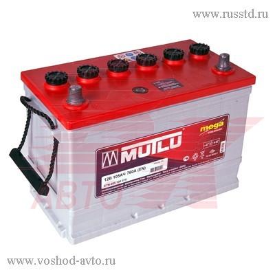 Аккумулятор MUTLU CALCIUM SILVER 105 A / ч выс 605106. 347x177x232 EN 760 605 106 076