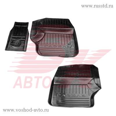 Коврики салона ГАЗ-3302 резиновые с перемычкой АГАТЭК VSK-00005452