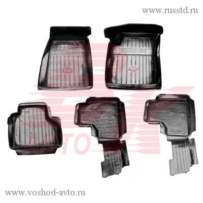 Коврики салона ВАЗ 2123 Нива-Chevrolet резиновые с литой перемычкой АГАТЭК VSK-00005677