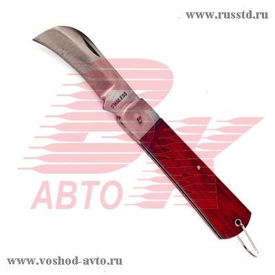 Нож складной 200мм изогнутое лезвие с деревянной рукояткой SPARTA 78999 78999