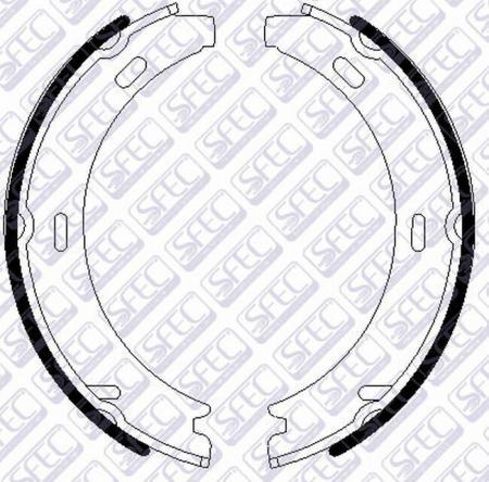 Колодки тормозные барабанные MERCEDES W201 / W124 85- ручного тормоза BS001371