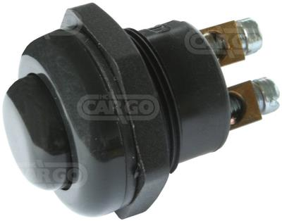 Выключатель механический универсальный DIN72764 черный, двух контактный 12V 25A / 24V 12.5A 180049