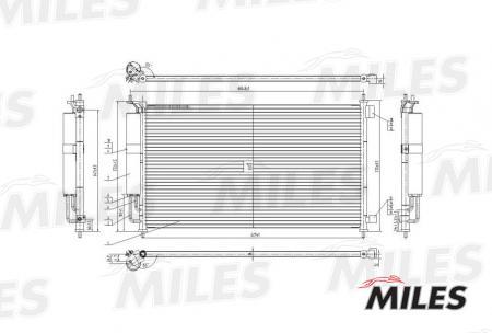 Радиатор кондиционера (NISSAN NOTE 1.0-1.6 02- / TIIDA 1.6-1.8 07-) ACCB011 ACCB011