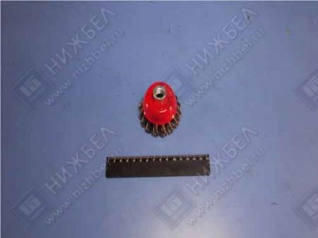 Щетка для УШМ 65 мм М 14 чашка крученая металлическая проволока MATRIX 74620