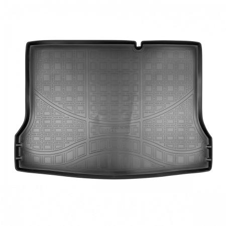 Коврик багажника (полиуретан) Nissan Tiida (C12) HB (2015-) {Серый}
