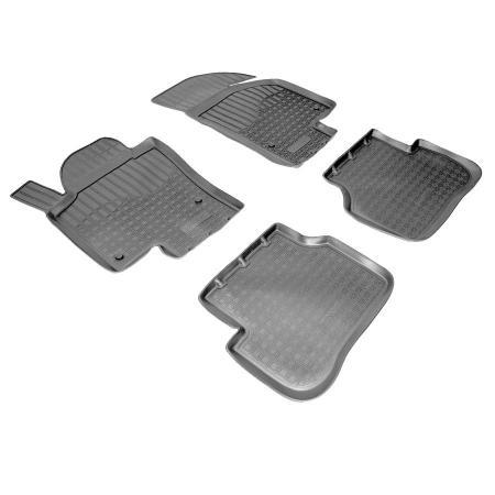 Коврики салона (полиуретан) Volkswagen Passat CC (2012-) {Серый}
