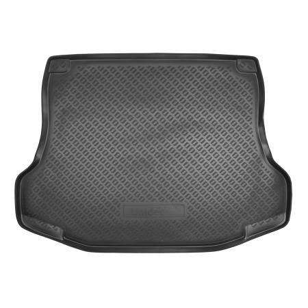 Коврик багажника (полиуретан) Nissan Tiida SD (2007-) {Серый}