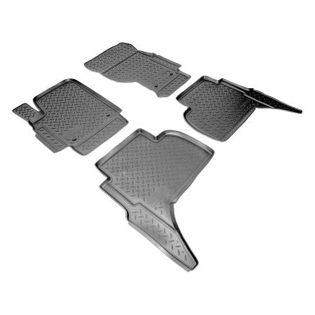 Коврики салона (полиуретан) Volkswagen Amarok (2010-) {Серый}